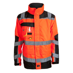 ELKA Visible Xtreme Regenjacke 086004R (orange-schwarz 033)