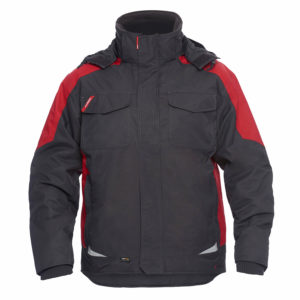 ENGEL Galaxy Winterjacke 1410-354 (anthrazit-rot 79757)