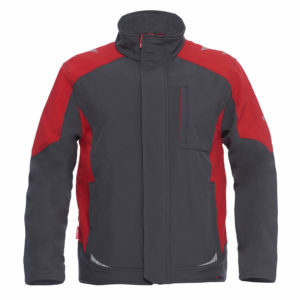 ENGEL Galaxy Softshelljacke 8810-229 (anthrazit-rot 79757)