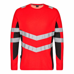 ENGEL Safety Langarm-Shirt 9545-182 (rot-schwarz 4720)