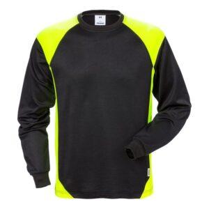 FRISTADS Langarm T-Shirt 7071 THV 129025-982 (schwarz/gelb 982)
