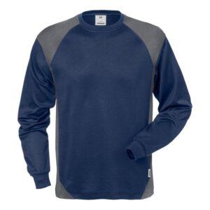 FRISTADS Langarm T-Shirt 7071 THV 129025-586 (marine/grau 586)