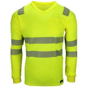 BAMBOO V-Neck Langarm-Shirt 19711 (leuchtgelb)